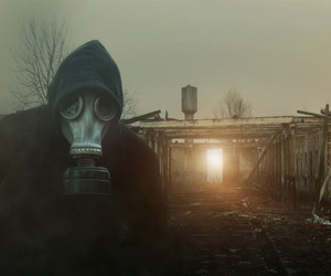 apocalypse, mask, and postapocalypse image
