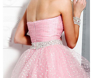 dresses, homecoming, and pink image