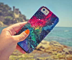iphone, galaxy, and beach image