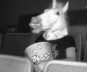 unicorn, black and white, and cinema image