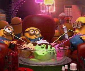 minions, ice cream, and despicable me image