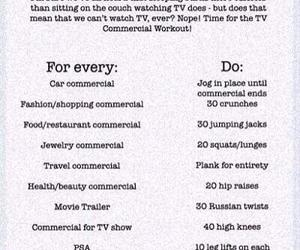 workout, fitness, and tv image