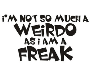 freak, weird, and funny image