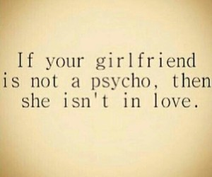 love, girlfriend, and Psycho image