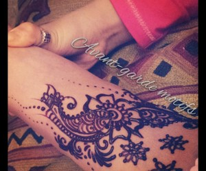 designs, flowers, and foot image