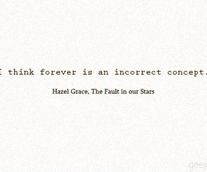 forever, the fault in our stars, and tfios image