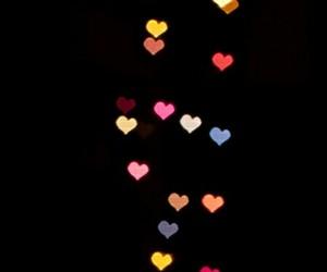 heart lights, hearts, and lights image
