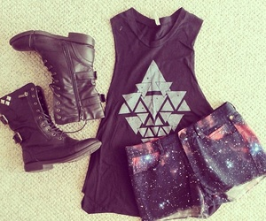 fashion, outfit, and galaxy image