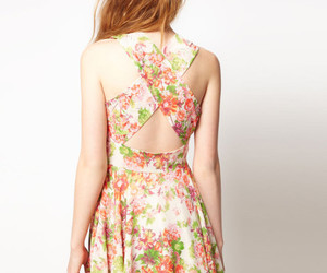 dress, flowers, and models image