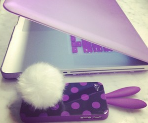 purple, iphone, and apple image