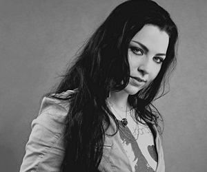 amy lee and black and white image