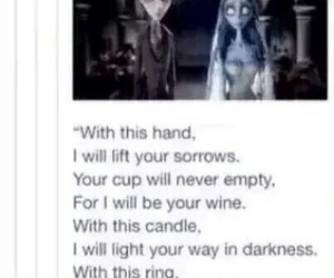 corpse bride, goth, and marriage image