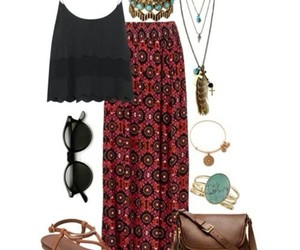 dress, spring, and beach outfit image