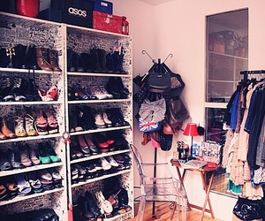 closet, shoe, and clothes image