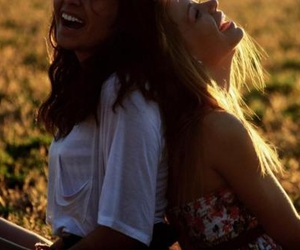 girl, friends, and laugh image