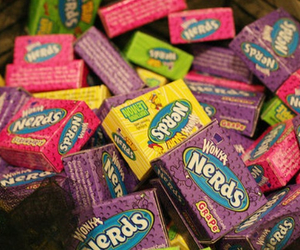 nerd, candy, and food image