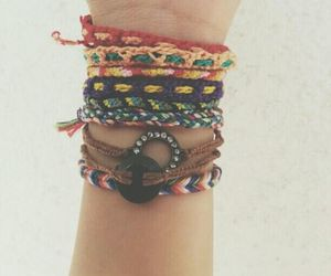 bracelets, girly, and hipster image