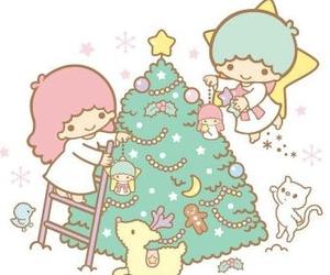 christmas, sanrio, and christmas tree image