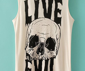 clothing, skull, and tee image
