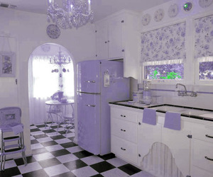 kitchen, pink, and purple image