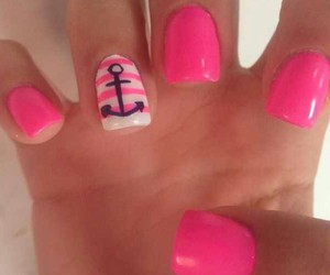 nail, pinknail, and summertime image