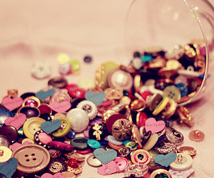 buttons, pink, and colorful image