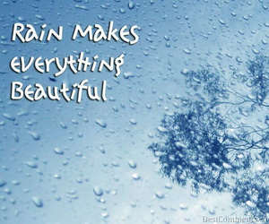 rain, words, and raindrops image