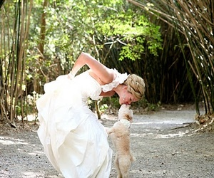 wedding, dog, and puppy image