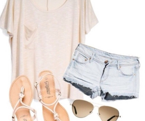 clothes, outfit, and sandals image
