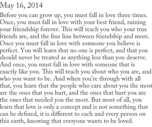 fall in love, love, and quote image