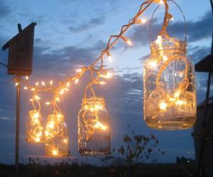 light, jar, and night image