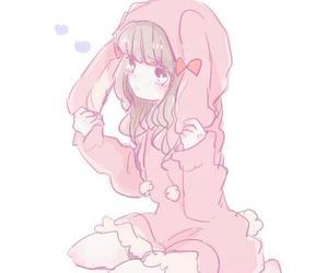 girl, anime, and bunny image