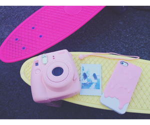 camera, iphone, and pink image