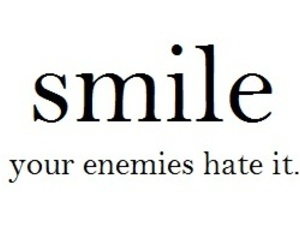 smile, enemy, and hate image
