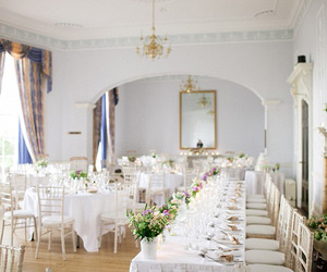 reception, table setting, and wedding image
