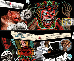 Collage, Darkness, and horror image