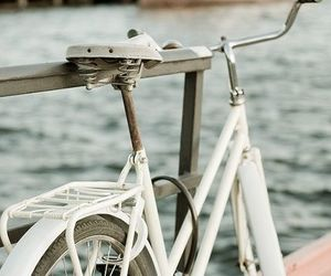 bike, white, and vintage image
