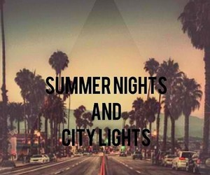 summer, night, and city image