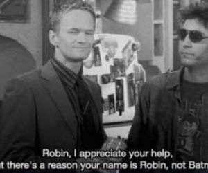 how i met your mother, barney, and batman image