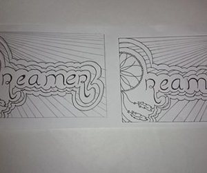 drawing, dreamer, and school image