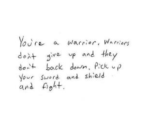 warrior, quote, and love image