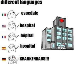 hospital, funny, and german image