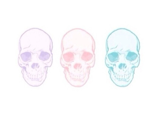 overlay, skull, and cool image