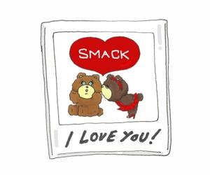 bear, foxy, and heart image