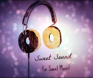 headphones, music, and sweet sound image
