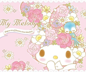 kawaii, my melody, and sanrio image