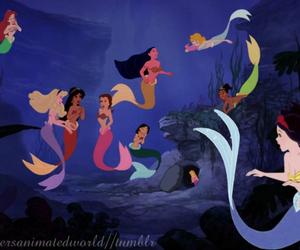 mermaid, disney, and princess image
