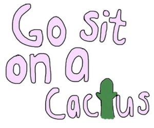 cactus and funny image