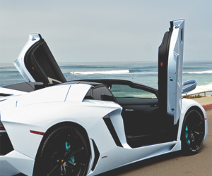 car, Lamborghini, and white image
