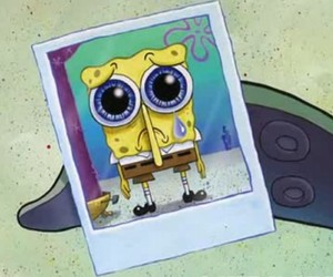 spongebob, sad, and spongebob squarepants image